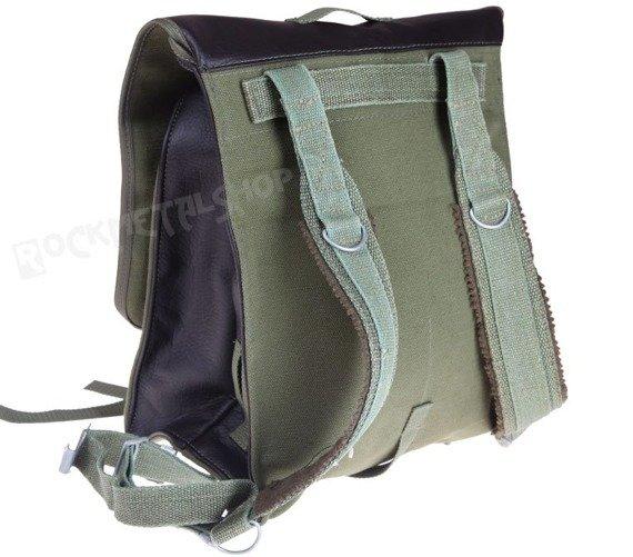 plecak KOSTKA WOJSKOWY, nowy, szerokie szelki + skóra ekologiczna BLACK