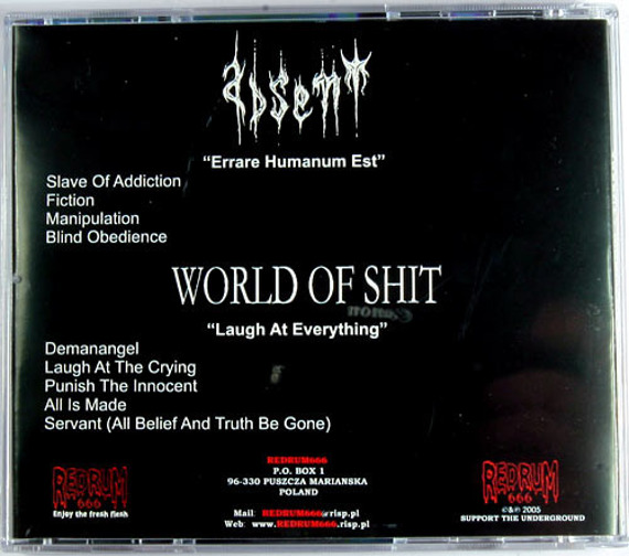 płyta CD: ABSENT / WORLD OF SHIT (split) [RM666 008]