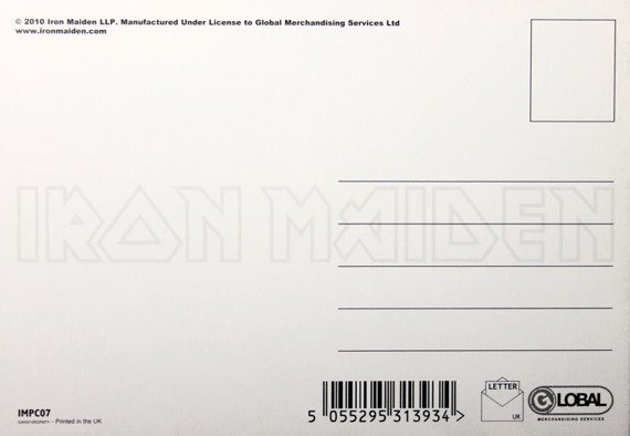 pocztówka IRON MAIDEN - THE FINAL FRONTIER