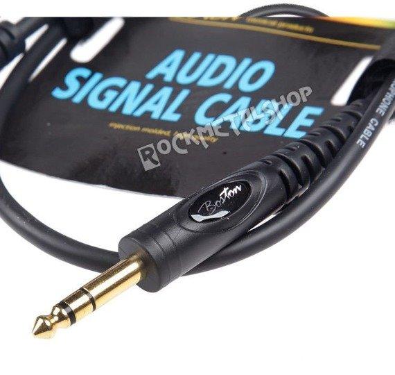 przewód audio BOSTON: XLR żeński -  DUŻY JACK STEREO (6.3mm) / 0,30m