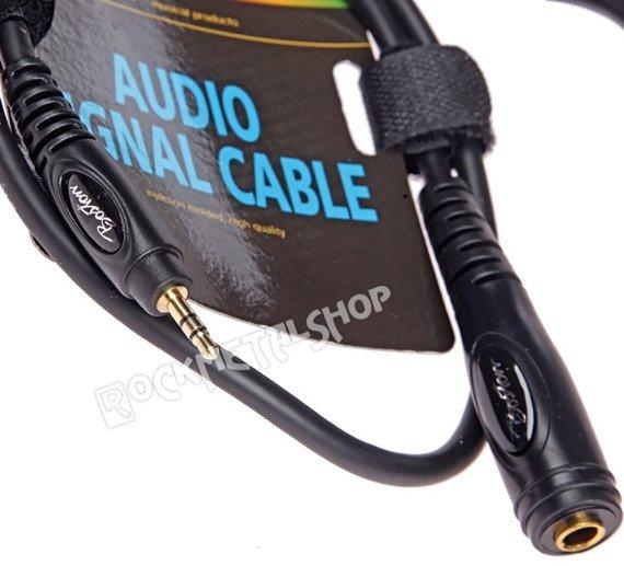 przewód audio BOSTON: gniazdo DUŻY JACK (6.3mm) stereo - mały jack (3.5mm) stereo / 75cm