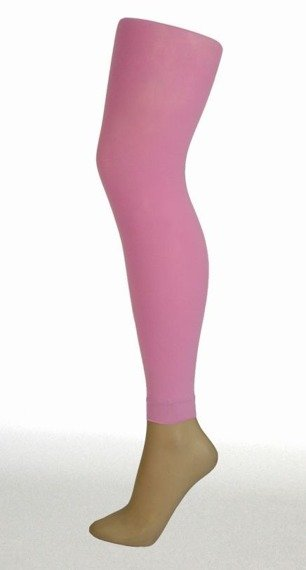 rajstopy pudrowy róż 3D FOOTLESS