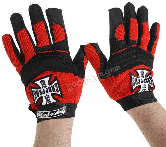 rękawiczki motocyklowe WEST COAST CHOPPERS - WCC RDING BLACK RED