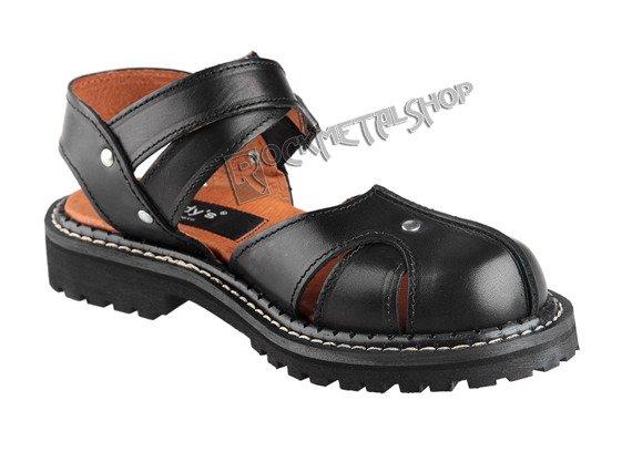 sandały damskie (glandały) STEADY'S czarne (STE/ROCK2)