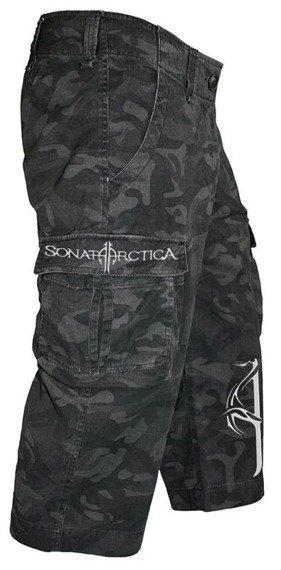 spodenki 3/4 SONATA ARCTICA - BLACK CAMOUFLAGE SHORTS