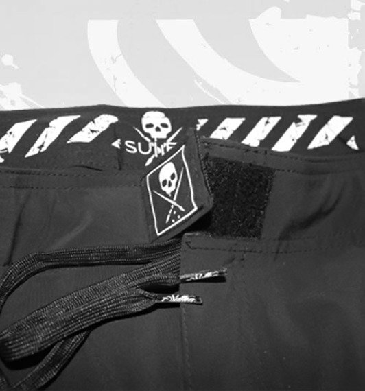 spodenki SULLEN - BRAWLERS FIGHTSHORT black/white