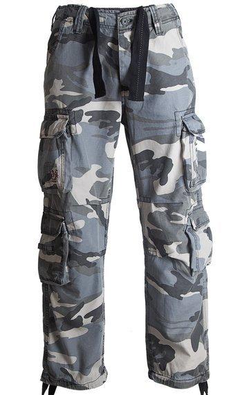 spodnie bojówki AIRBORNE VINTAGE - NIGHT CAMO