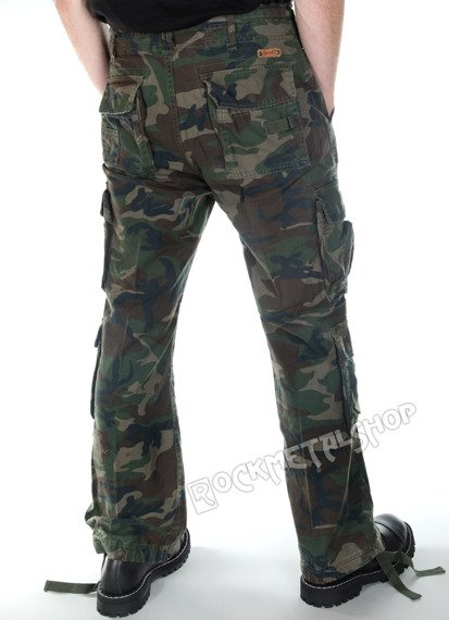 spodnie bojówki PURE VINTAGE woodland