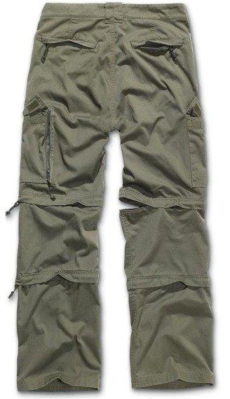 spodnie bojówki SAVANNAH RTROUSER OLIV, odpinane