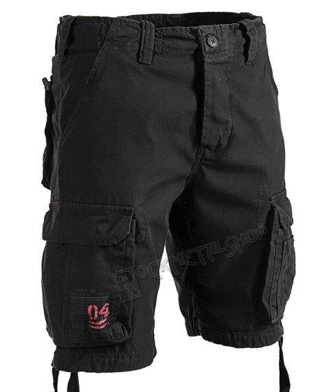 spodnie bojówki krótkie AIRBORNE VINTAGE BLACK