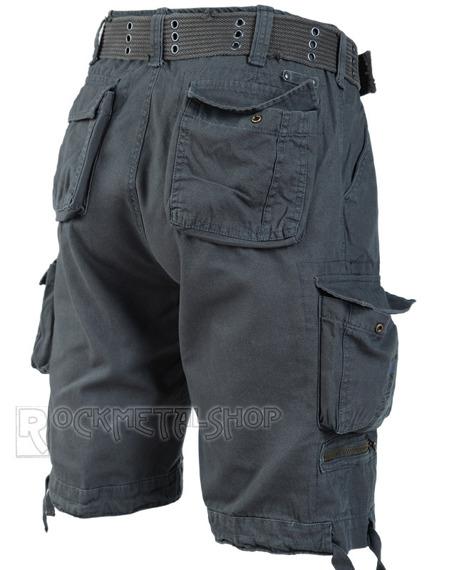spodnie bojówki krótkie SAVAGE VINTAGE SHORTS - ANTHRAZIT