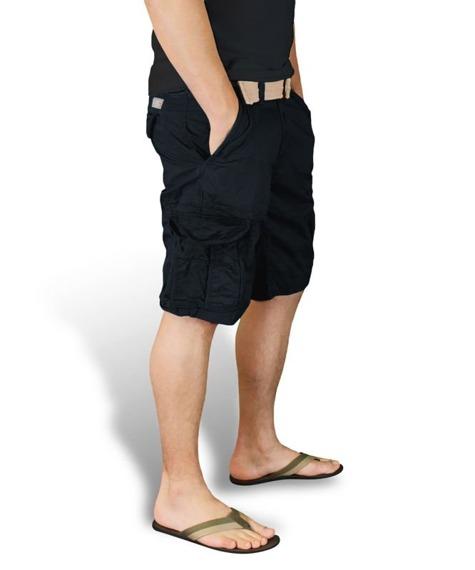 spodnie bojówki krótkie XYLONTUM VINTAGE SHORTS BLACK