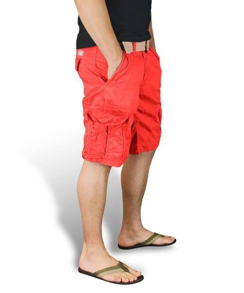 spodnie bojówki krótkie XYLONTUM VINTAGE SHORTS RED