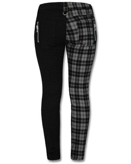 spodnie damskie BANNED - BLACK/GREY CHECK
