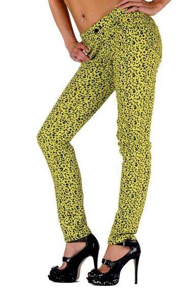 spodnie damskie LIVING DEAD SOULS yellow