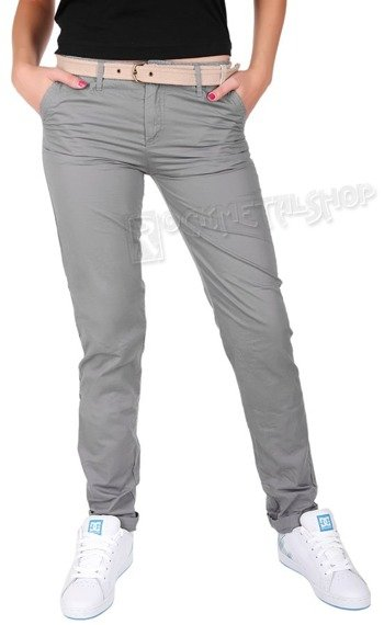 spodnie damskie XYLONTUM CHINO TROUSERS WN GRAY