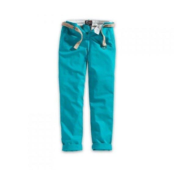 spodnie damskie XYLONTUM CHINO TROUSERS WN PETROL