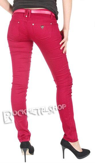 spodnie damskie rurki AMARANTOWE