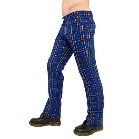spodnie unisex TARTAN PANTS BLUE