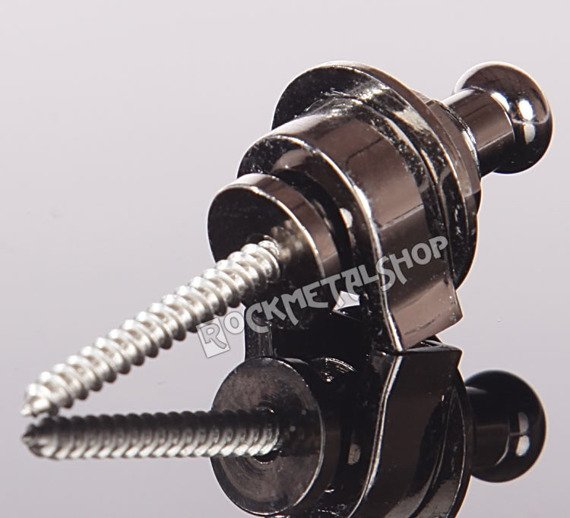 straplock / zaczep do paska BOSTON czarny chrom (komplet 2szt.)