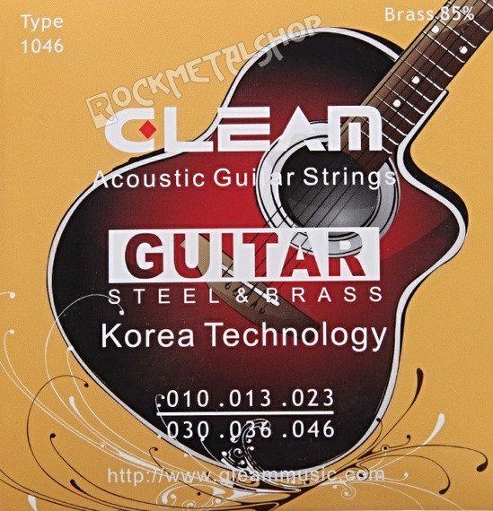 struny do gitary akustycznej GLEAM Steel & Brass, Light /010-046/