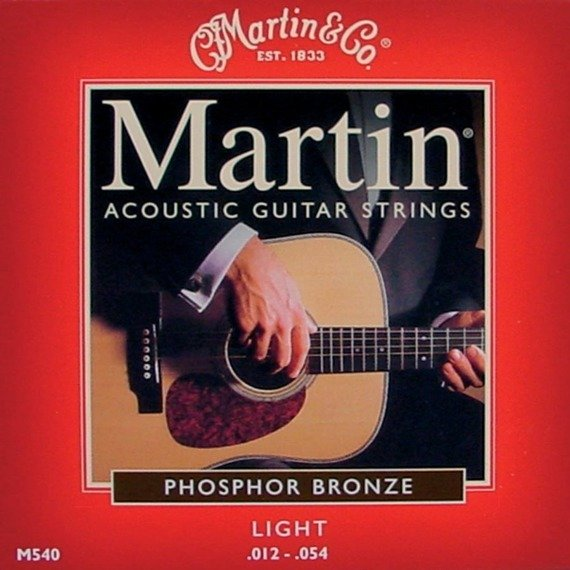 struny do gitary akustycznej MARTIN M540 - PHOSPHOR BRONZE 92/8 Light /012-054/