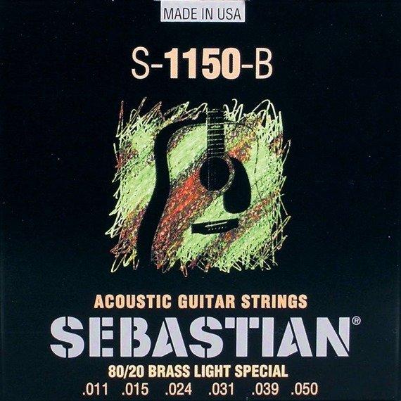 struny do gitary akustycznej SEBASTIAN S-1150-B: 80/20 BRASS Light Special /011-050/