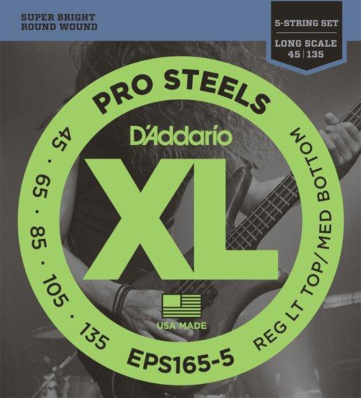 struny do gitary basowej 5str. D'ADDARIO EPS165-5 /045-135/