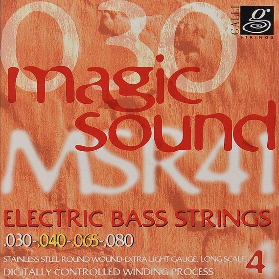 struny do gitary basowej GALLI STRINGS - MAGIC SOUND MSR41 HEXAGONAL /030-080/