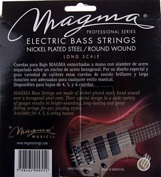 struny do gitary basowej MAGMA BE130N Nickel Plated / Extra Light /040-095/