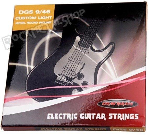 struny do gitary elektrycznej CRAFTMAN NICKEL WOUND DGS /009-046/