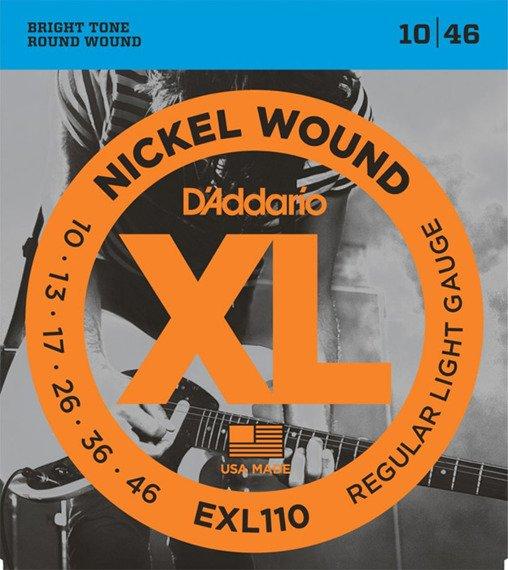 struny do gitary elektrycznej D'ADDARIO EXL110 /010-046/