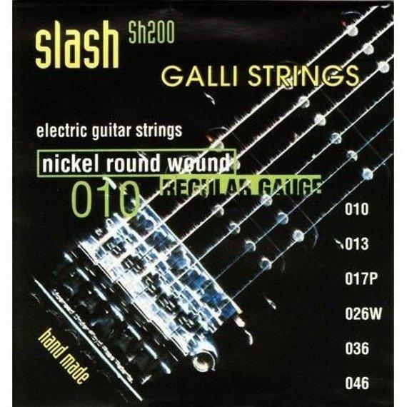 "struny do gitary elektrycznej GALLI STRINGS ""SLASH"" SH200 Nickel Wound /010-046/"