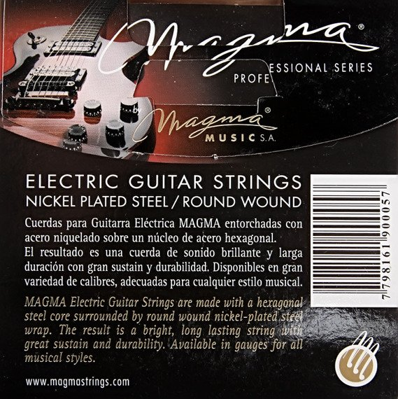 struny do gitary elektrycznej MAGMA GE155N Nickel Plated / Heavy Bottom /010-052/