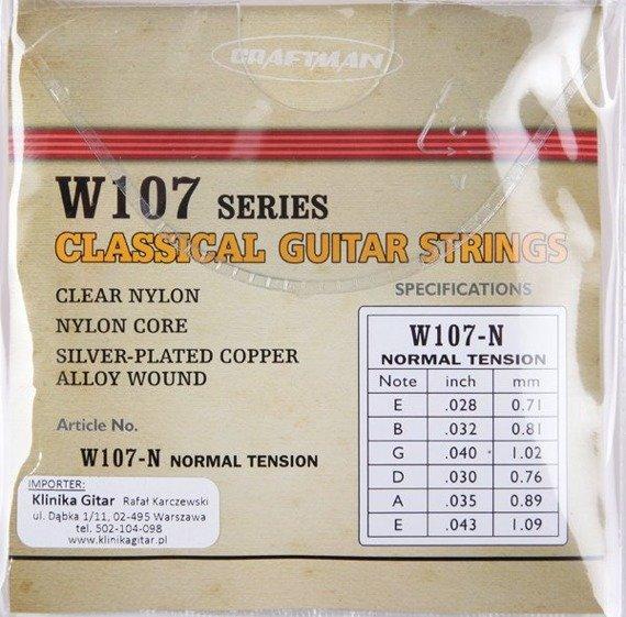 struny do gitary klasycznej CRAFTMAN SILVER-PLATED COPPER W107-M /028-043/