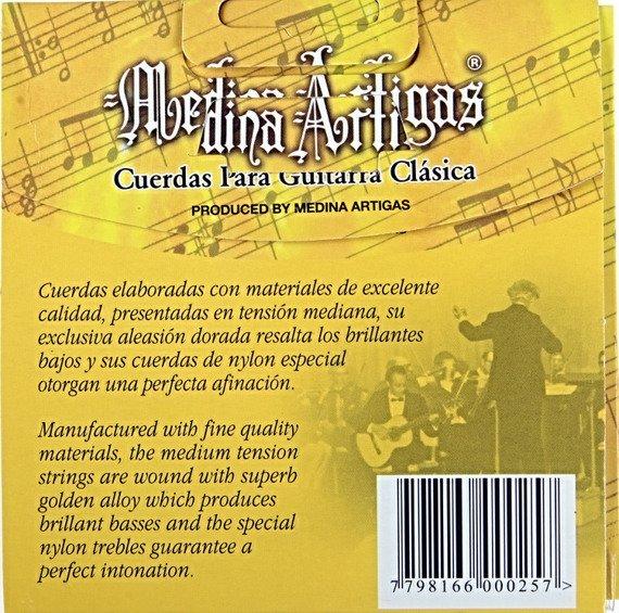 struny do gitary klasycznej MEDINA ARTIGAS Special Nylon Clear 520 Medium
