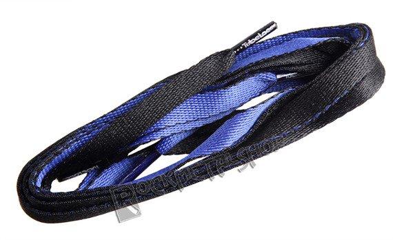 sznurowadła TUBELACES - 2-TONE BLACK/ROYAL (120 cm)