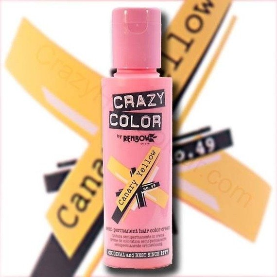 toner do włosów CRAZY COLOR - CANARY YELLOW [049]