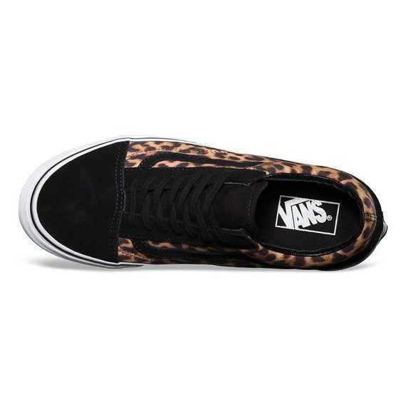 trampki VANS - OLD SKOOL SUEDE LEOPARD BLACK TRUE WHITE