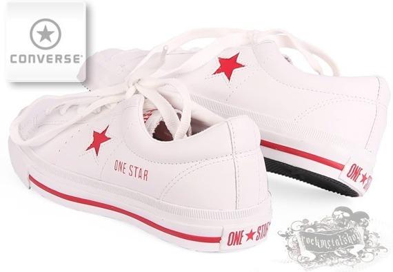 trampki damskie CONVERSE - ONE STAR PREMIERE OS OX (WHITE/RED)