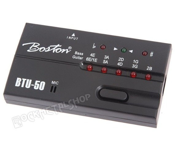 tuner do gitary i basu BOSTON BTU-50 mikrofon / jack