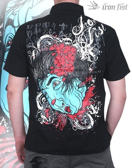 workshirt  IRON FIST - GEISHA HEAD 09""