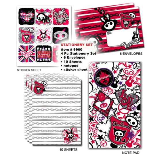 zestaw papeterii SKELANIMALS - STATIONERY SET