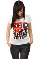 bluzka damska RED HOT CHILI PEPPERS - TYPE FACE FILLS biała