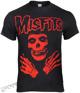 koszulka MISFITS - RED ARMS CROSSED SKELETON