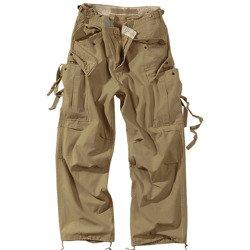 spodnie bojówki  VINTAGE FATIGUES M65 - KREMOWE